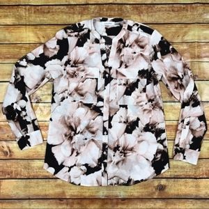 Calvin Klein Floral Printed Blouse Size Small